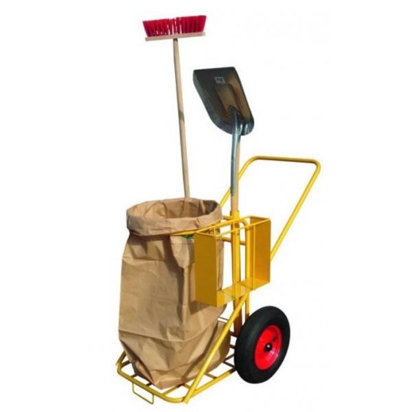 Chariot de nettoyage Charge admissible (Kg) 200 Poids (Kg) 30 Référence CHARIOT 57007 Dimensions (LxlxH) en mm 1118*730*1120 Diamètre des roues (mm) 400 Type de roues Caoutchouc gonflé