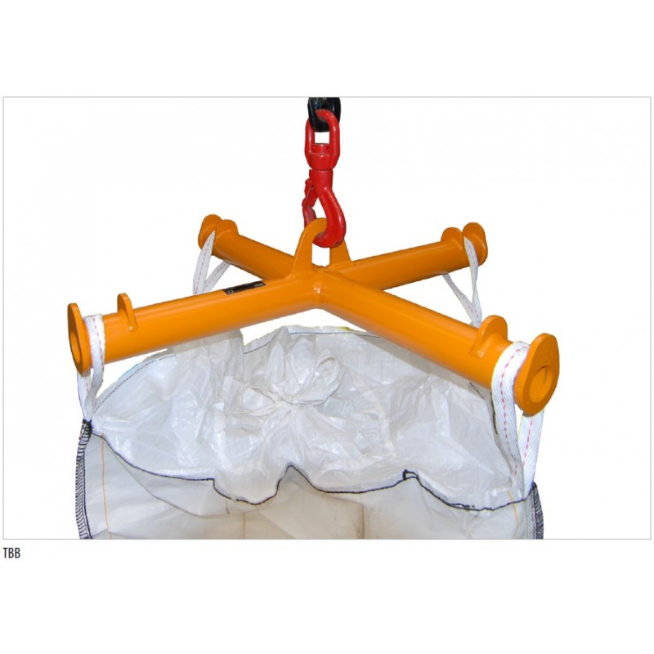 Palonnier pour Big Bag Charge admissible (Kg) 2000 Poids (Kg) 38 Référence TBB Dimensions (LxlxH) en mm 1100*1100*215
