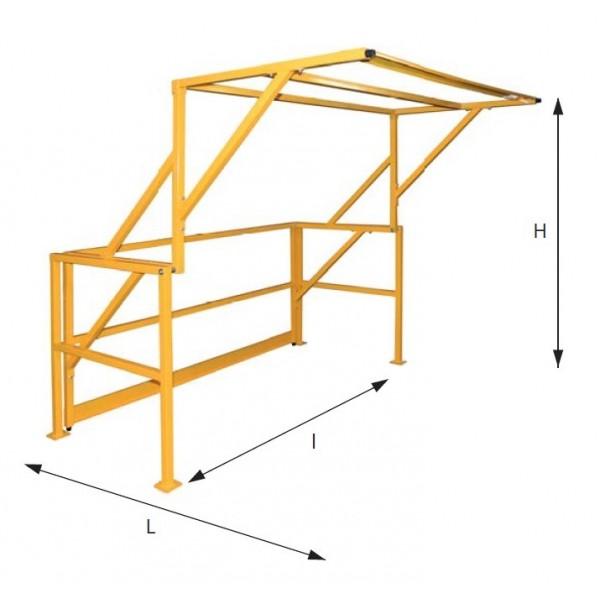 Barrière écluse basculante Poids (Kg) 80 Dimensions (LxlxH) en mm 1880x1600x1965 Largeur (mm) 1600 Référence BEB1000