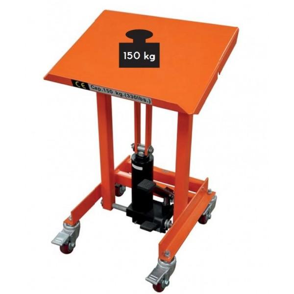 Servante mobile plateau inclinable Charge admissible (Kg) 150 Poids (Kg) 38 Inclinaison plateau 0 à 40° Référence XH15A Hauteur élévation (mm) 720 / 1070 Dimensions plateau (mm) 503*405
