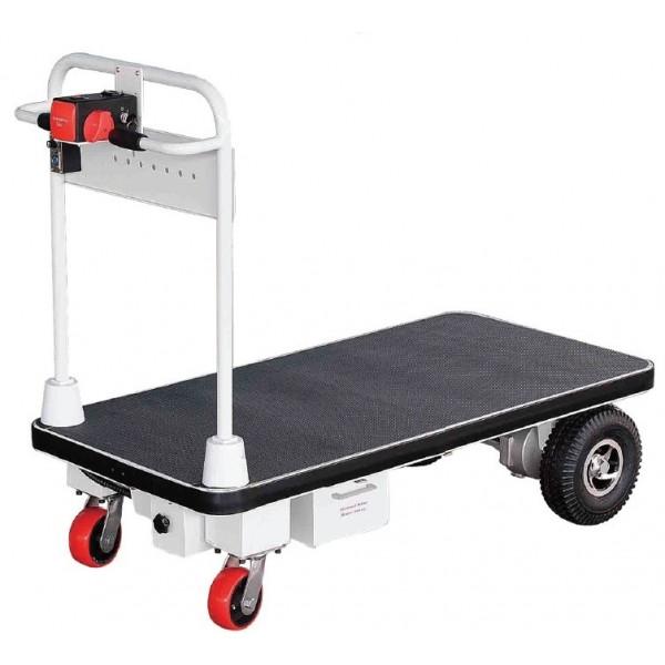 Chariot motorisé Hauteur Timon (mm) 1100 Charge admissible (Kg) 300 Référence PM30R/1 Dimensions plateau (mm) 1000*600 Poids (Kg) 58