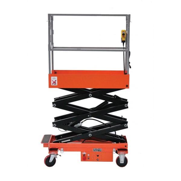 Nacelle semi électrique Charge admissible (Kg) 240 Hauteur plateforme 720 / 3500 mm Dimensions (LxlxH) en mm 1455*780*1825 Poids (Kg) 362 Référence ES35TC