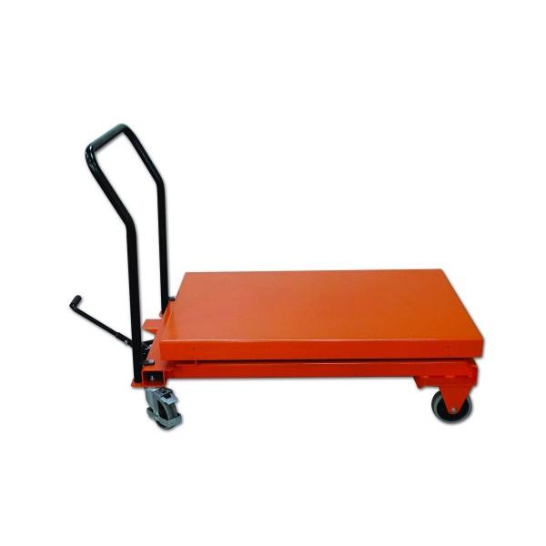 Table surbaissée manuelle élévatrice Charge admissible (Kg) 300 Référence SC300DM Hauteur élévation (mm) 295 / 1350 Dimensions plateau (mm) 590*840 Dimensions (lxh) mm 1190*640 Poids (Kg) 106