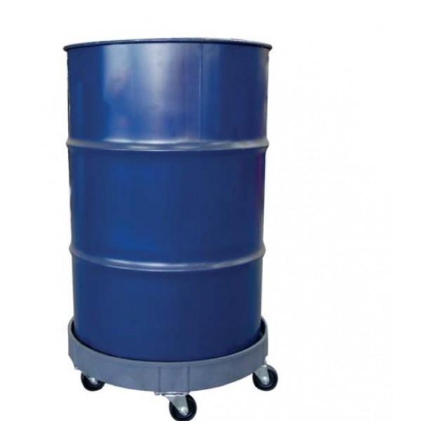 Chariot pour fûts acier ou plastique Référence SD55D Charge admissible (Kg) 410 Matière Acier Diamètre (mm) 603 Poids (Kg) 5