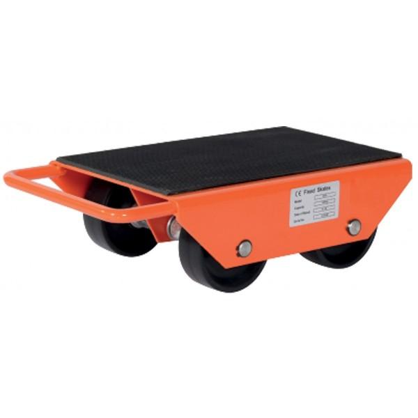 Rouleurs galets fixes Charge admissible (Kg) 1000 Poids (Kg) 7 Référence SF10 Type de roues 2 axes / 4 galets Dimensions (LxlxH) en mm 330*220*120 Hauteur (mm) 120