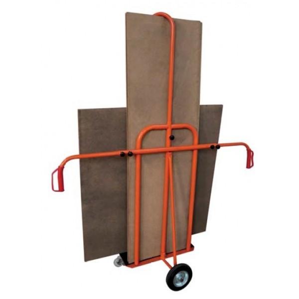 Chariot porte-panneaux Charge admissible (Kg) 300 Référence PK3 Dimensions (lxh) mm 600*200 Type de roues 2 roues diam 200 mm