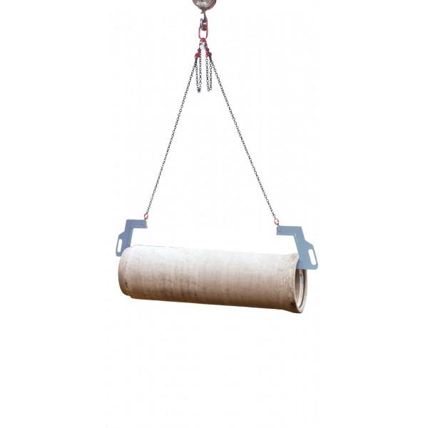 Crochet déplacement tuyaux Charge admissible (Kg) 1000 Poids (Kg) 32 W : largeur d'ouvert. (mm) 200 Référence 1069.1 T : Profondeur 350 Long. chaine 3.0 m Longueur tuyau 4 m maxi