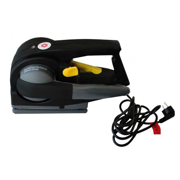 Tendeur électrique 220v - Cerclage feuillard plastique Référence ZP2012 Largeur (mm) Feuillard 9 à 16 Epaisseur feuillard (mm) 0.55 à 1 Plage de tension (Kg) 20 - 100 Dimensions (LxlxH) en mm 250x103x140 Poids (Kg) 2.8