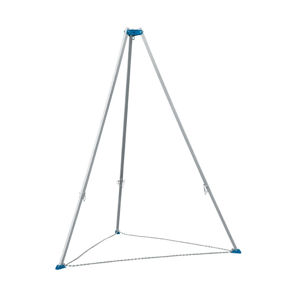 Tripode aluminium pliable Charge admissible (Kg) 250 Référence TRA250-H1 Hauteur anneau min / max (mm) 1500 / 2486 Diamètre ouverture pieds min / max (mm) 1330 / 2100 Poids (Kg) 8.9 Dimensions replié (mm) 1600*210