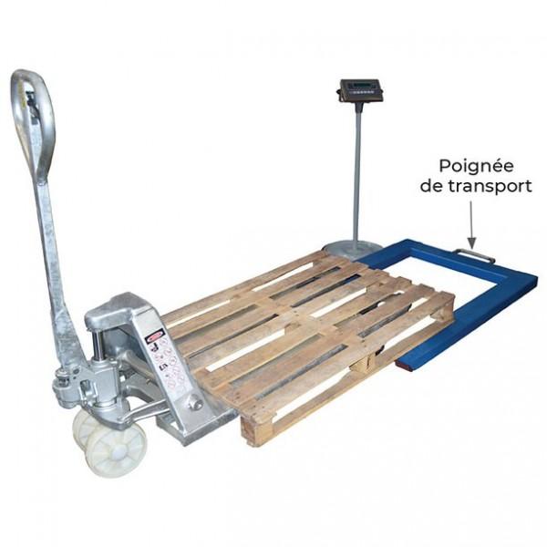 Système de pesage palette Poids (Kg) 38 Précision de la pesée 1 KG Référence ND1000 Capacité 1000 kg