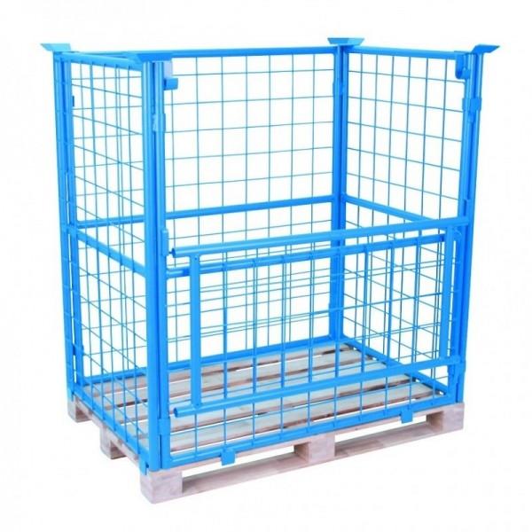 Rehausse palette grillagée Poids (Kg) 25 Référence REHAUSSE 59210 Charge admissible (Kg) 500 par cage Dimensions (LxlxH) en mm 1200x800x800