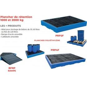 Plancher de rétention polyéthylène