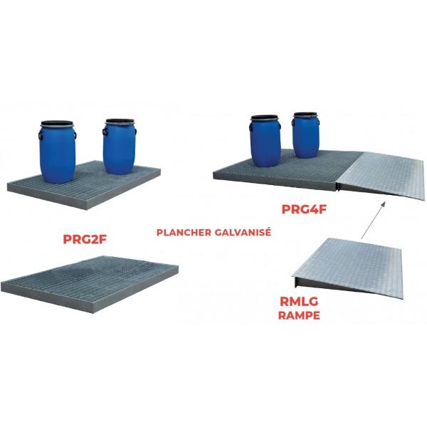 Plancher de rétention Charge admissible (Kg) 1000 Nombre de fûts 2 Poids (Kg) 20 Référence PRP2F Hauteur (mm) 150 Dimensions (lxh) mm 1260*860 Type Polyéthylène Volume (m3 ou L) 150