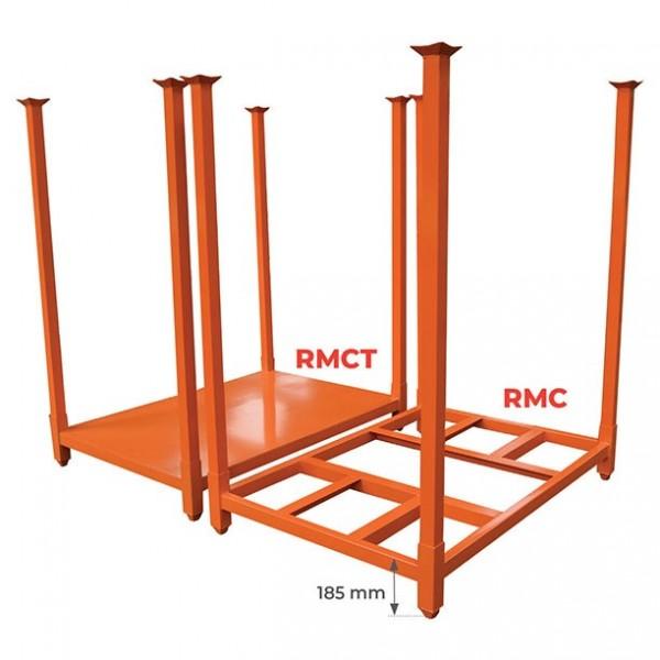 Rack mobile empilable Charge admissible (Kg) 1800 Poids (Kg) 49 Référence RMC900 Type Fond Tube ajouré Dimensions (lxh) mm 1069*1524 Hauteur des chandelles (mm) 914