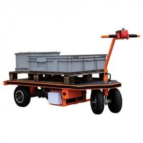 Chariot de manutention motorisée à roues gonflables