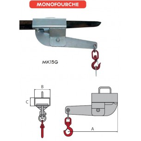 Crochet galvanisé serrage automatique